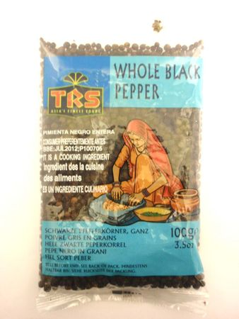 Whole black pepper 100g TRS - Whole - 5017689002251 - 1