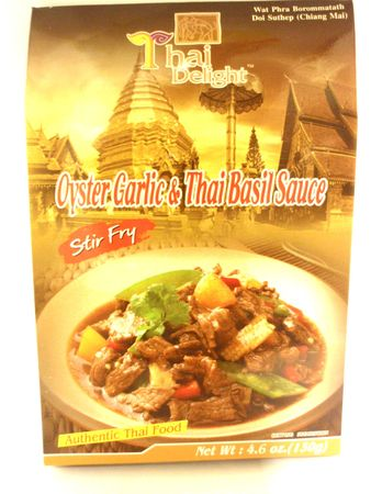 Oyster garlic & thai basil stirfry 130g - Other sauces - 8850643068033 - 1