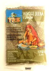 Jeera cumin whole 100g TRS - Whole - 5017689001674 - 1