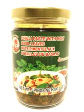 Chilli paste w/holy basilleave 200g Cock - Chilli sauces - 084909005847 - 1