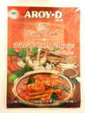Red curry paste 50g Aroy-D - Spice paste - 016229906399 - 1